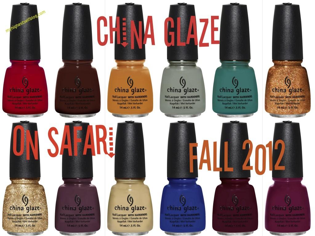 China Glaze On Safari Collection for Fall 2012