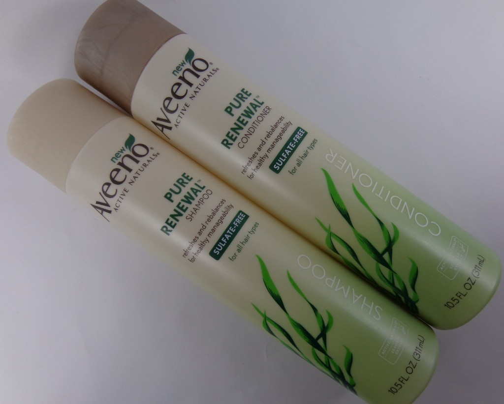 Review:  Aveeno Pure Renewal Shampoo & Conditioner