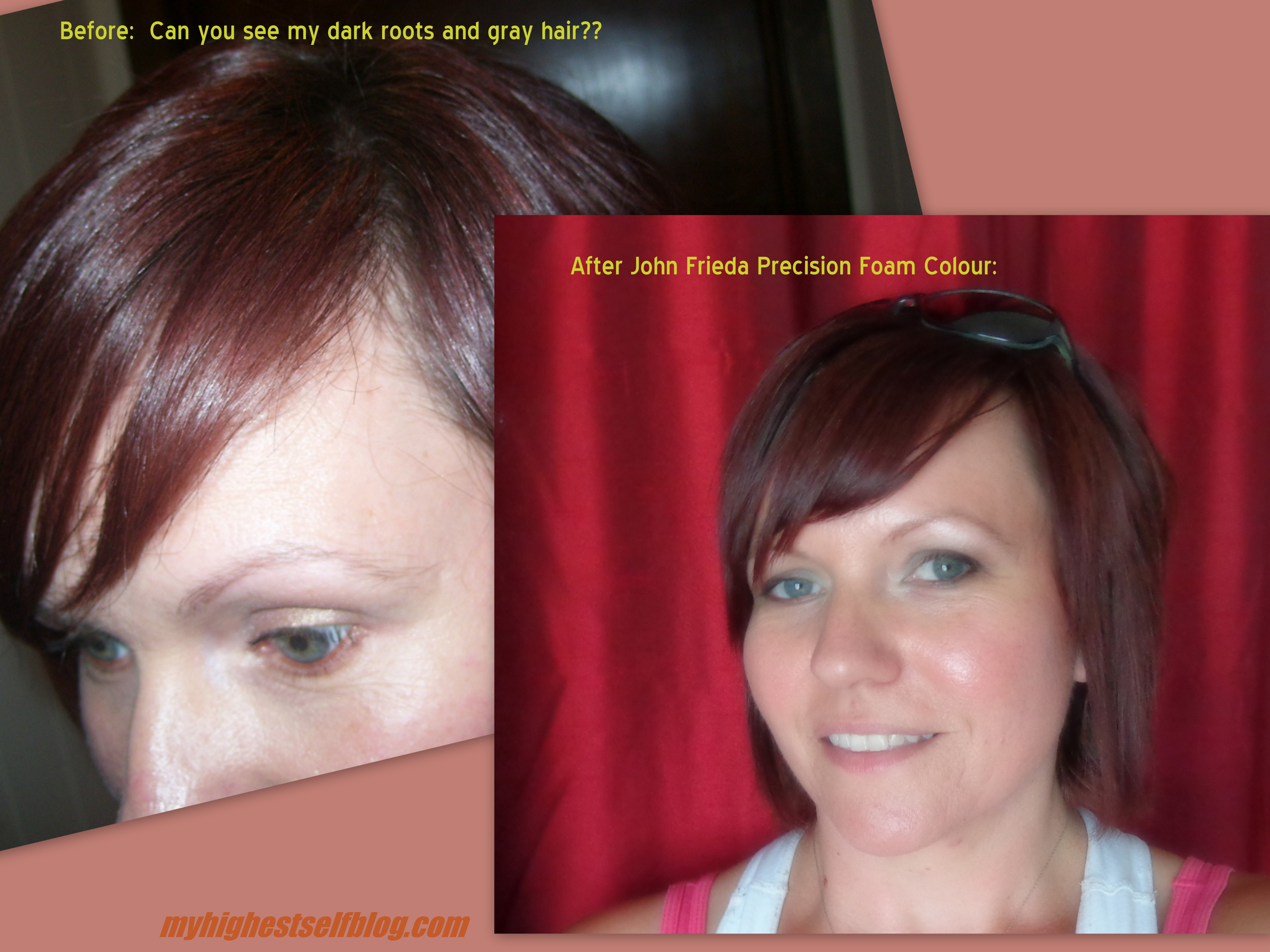 Hair Adventures Before And After Photos John Frieda Precision Foam