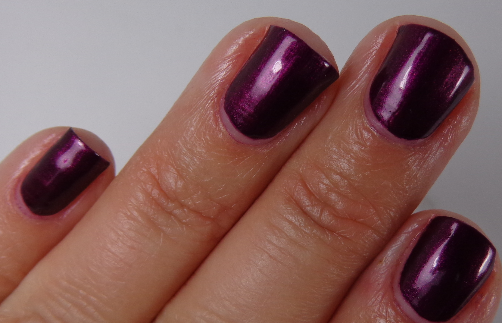 purple nail swatch