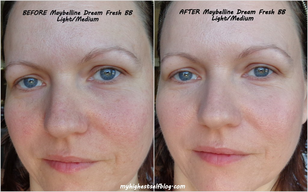 maybelline dream fresh bb before and after photo
