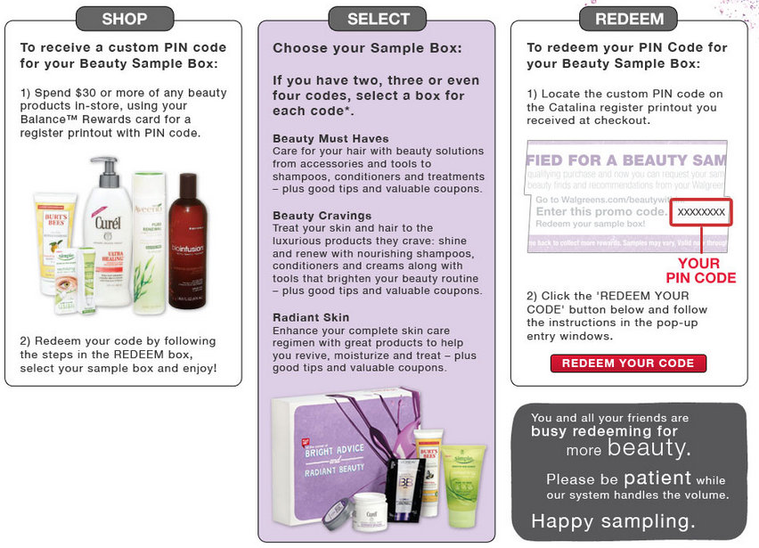 FREE Beauty Sample Box from Walgreens