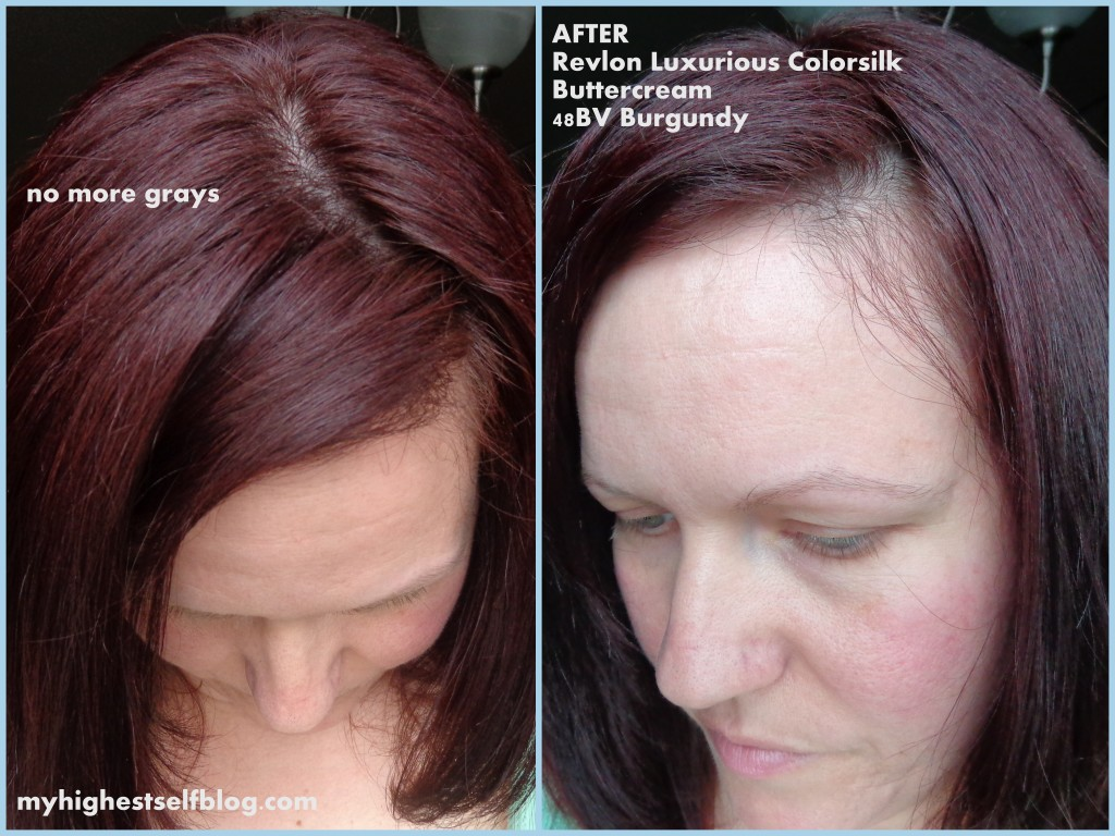 After Revlon hair color burgundy