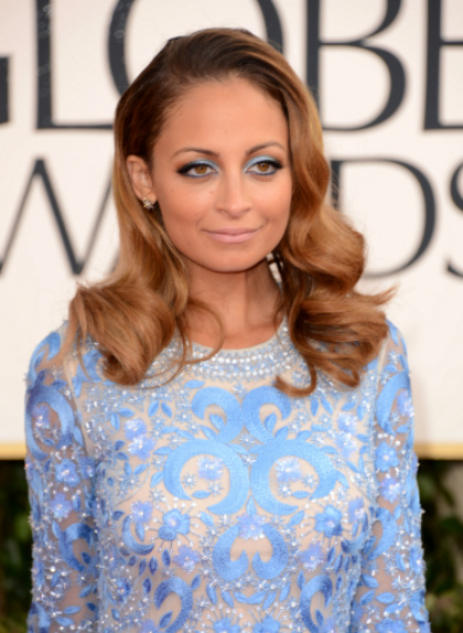Nicole Richie hair, golden globes 2013