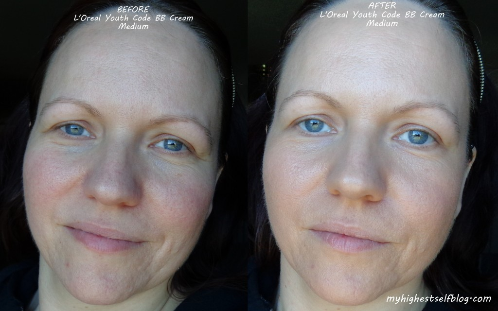 loreal youth code bb cream before and after