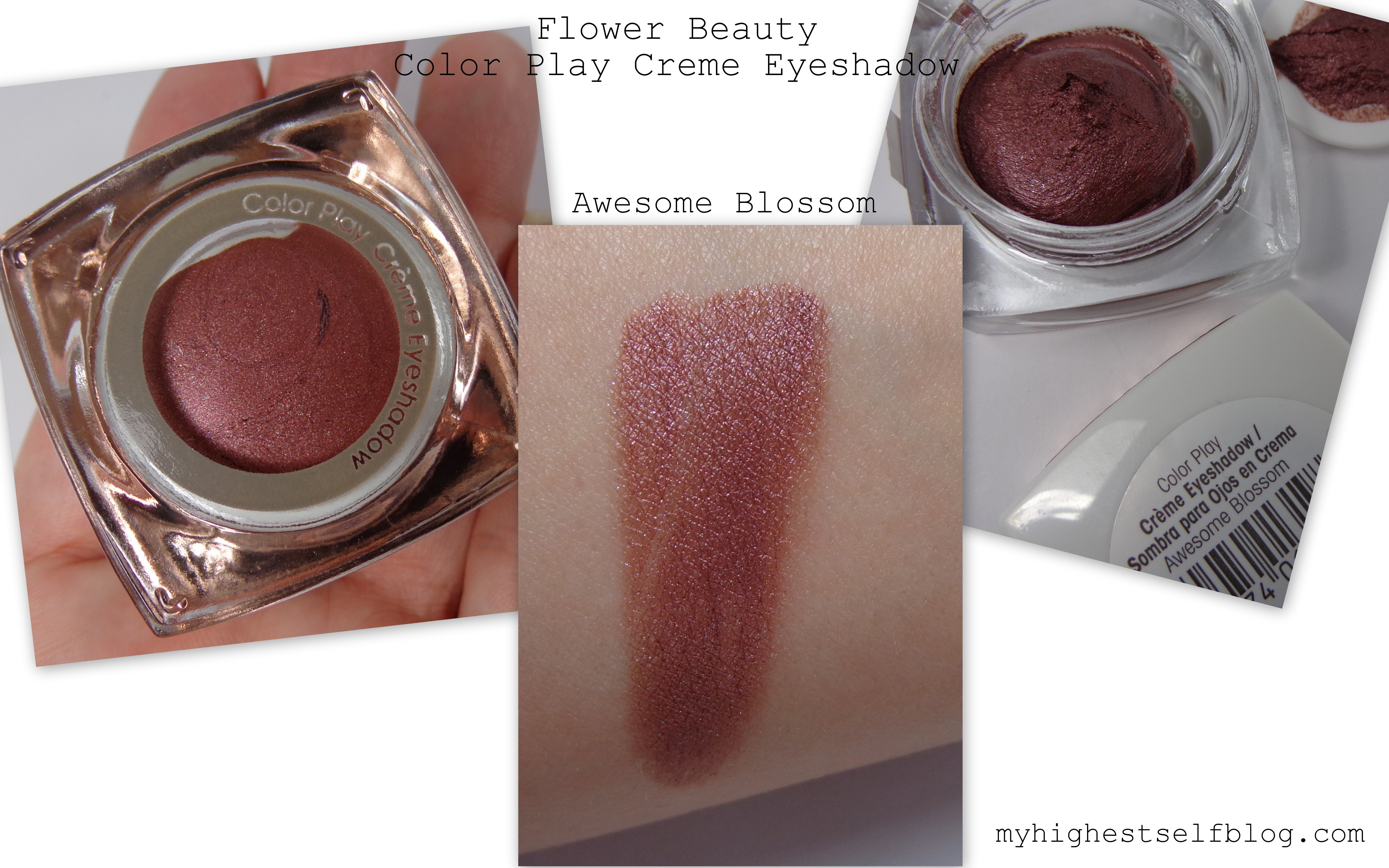 Flower beauty color play creme eyeshadow awesome blossom my flower beauty swatches izmirmasajfo