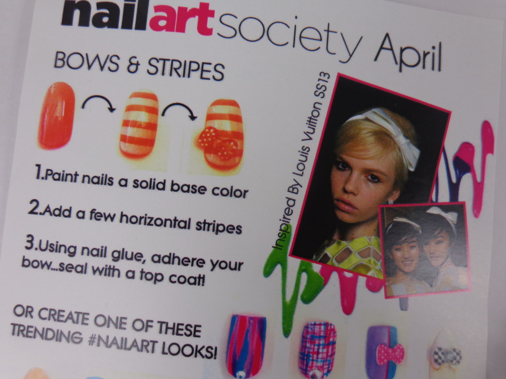 Nail Art Society for April 2013