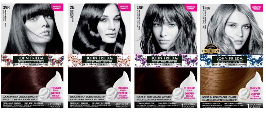 John Frieda and Zac Posen Precision Foam Colour with Exclusive Hair Accessories