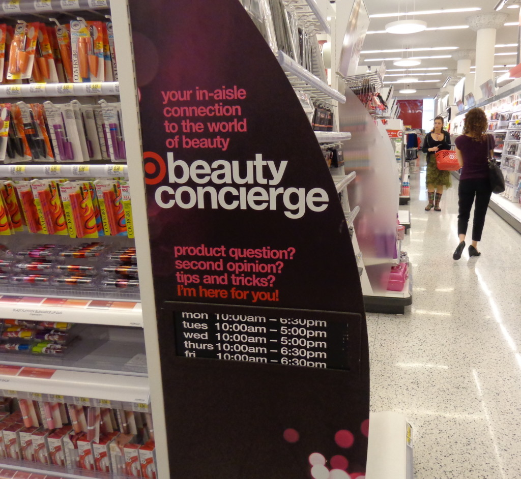 sneak preview of the new target beauty concierge program