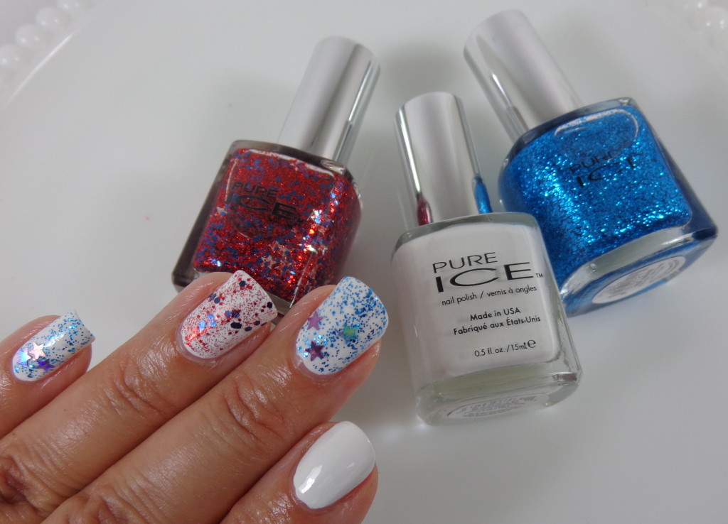 4th of July Manicure with Pure Ice Nail Polish
