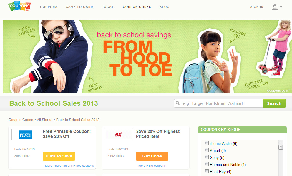 CLOSED Back to School Deals at Coupons.com PLUS $150 Giveaway