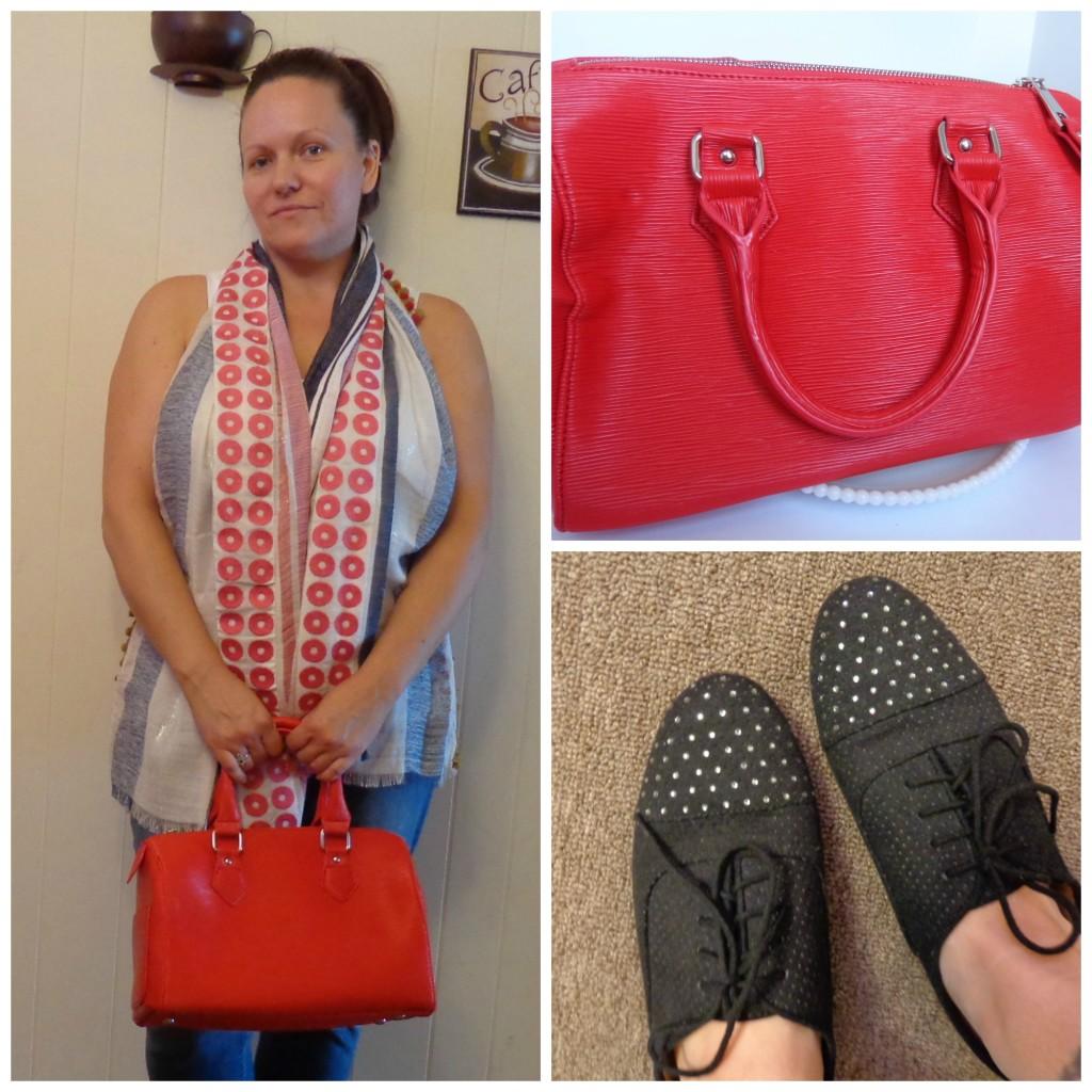 Just Fab Handbag and Oxfords