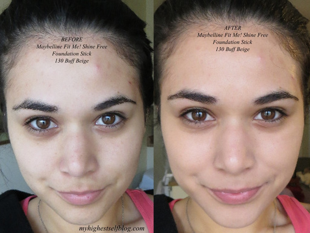 Maybelline Fit Me Stick before after