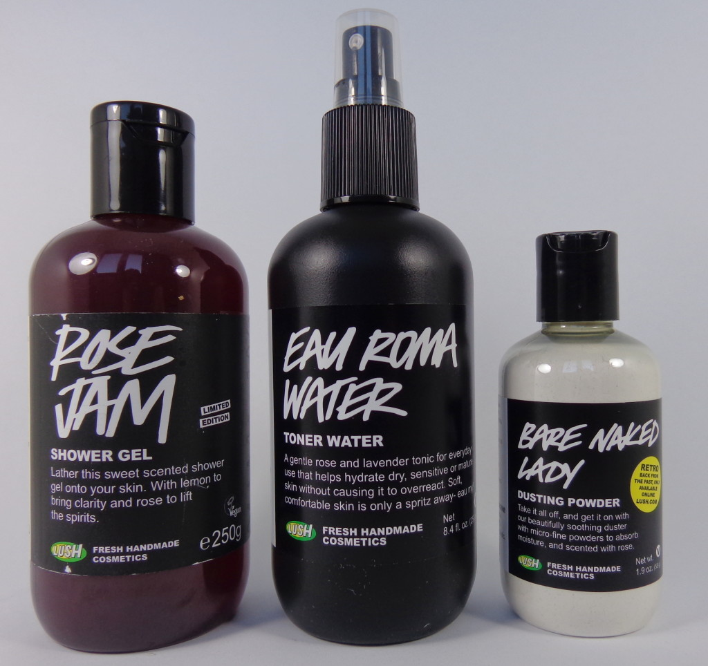 Ode to Roses with LUSH! – Rose Jam Shower Gel, Eau Roma Toner Water, Bare Naked Lady Dusting Powder