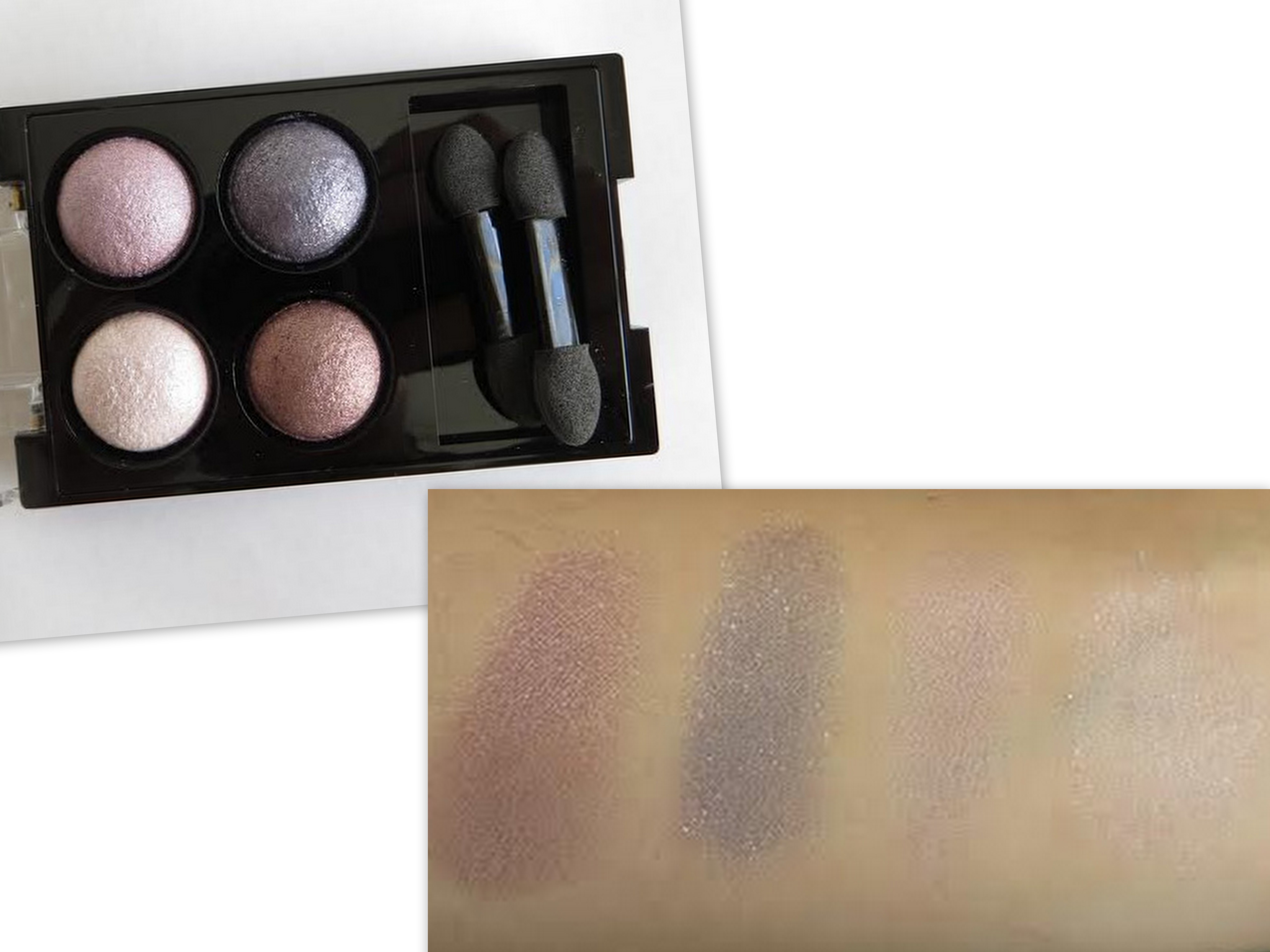 Swatch Review Hard Candy Baked Eyeshadow Shadow Dancers And