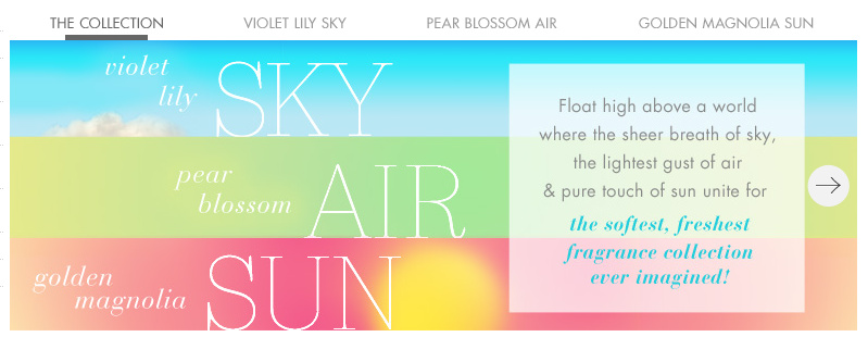 NEW Sun, Air, Sky Collection from Bath & Body Works $6 each PLUS $1 Shipping