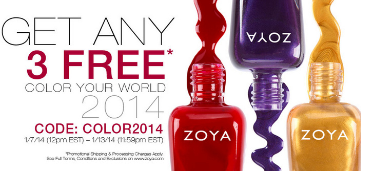 Get 3 Zoya Nail Polish for Just $12 Shipped!