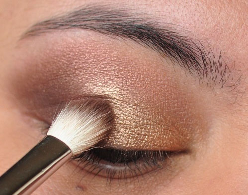 Smoky Gold Eyeshadow Tutorial 13