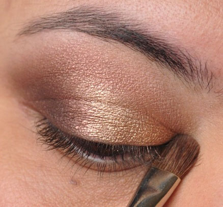 Smoky Gold Eyeshadow Tutorial 14