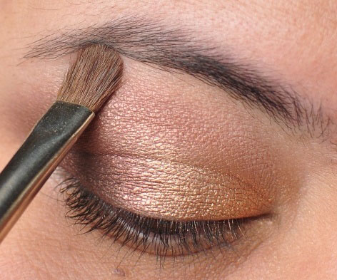 Smoky Gold Eyeshadow Tutorial 15