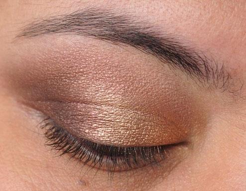 Smoky Gold Eyeshadow Tutorial 16