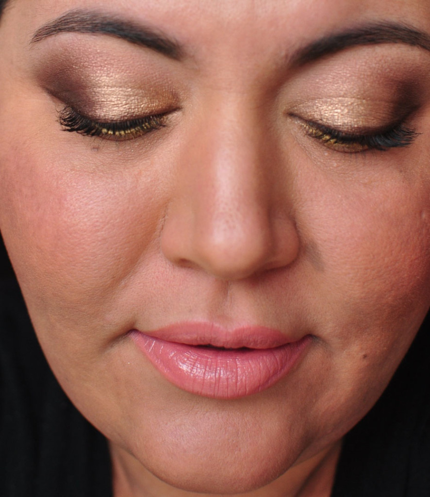 Smoky Gold Eyeshadow Tutorial with Too Faced