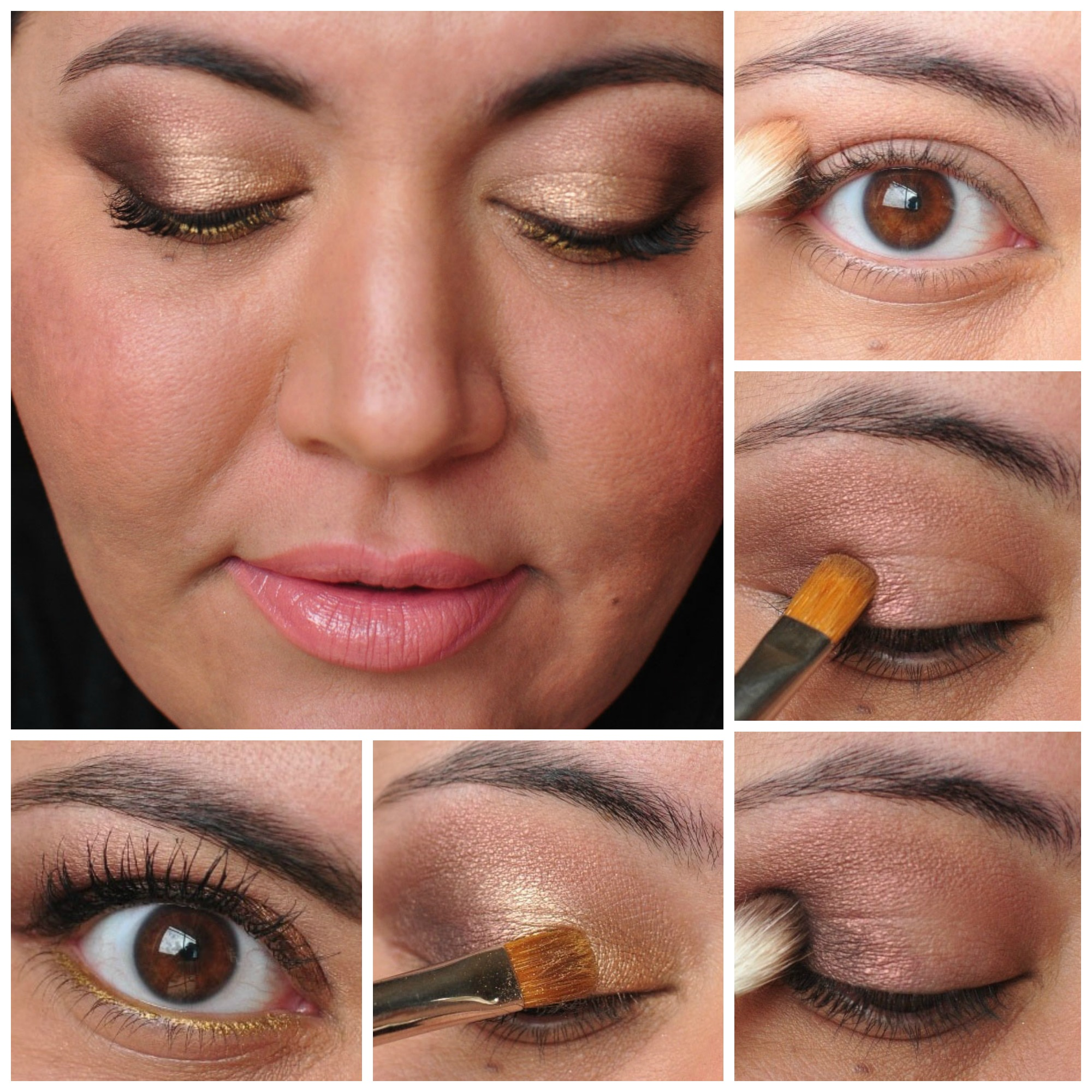 Eyeshadow Gold tutorial pictures catalog photo