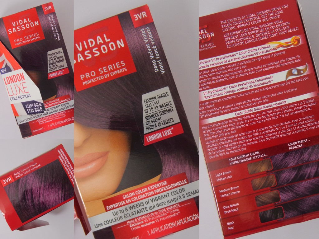 Review with Before and After Photos: Vidal Sassoon Pro Series Hair Color London Luxe Collection – Deep Velvet Violet (3VR)