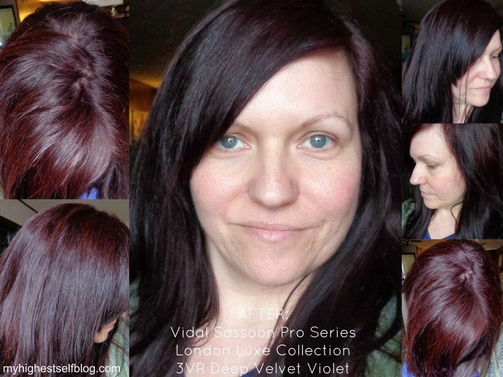 Vidal Sassoon Deep Velvet Violet After Photo
