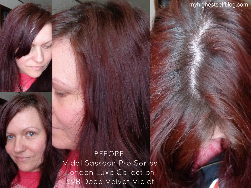 Vidal Sassoon Deep Velvet Violet Before Photo