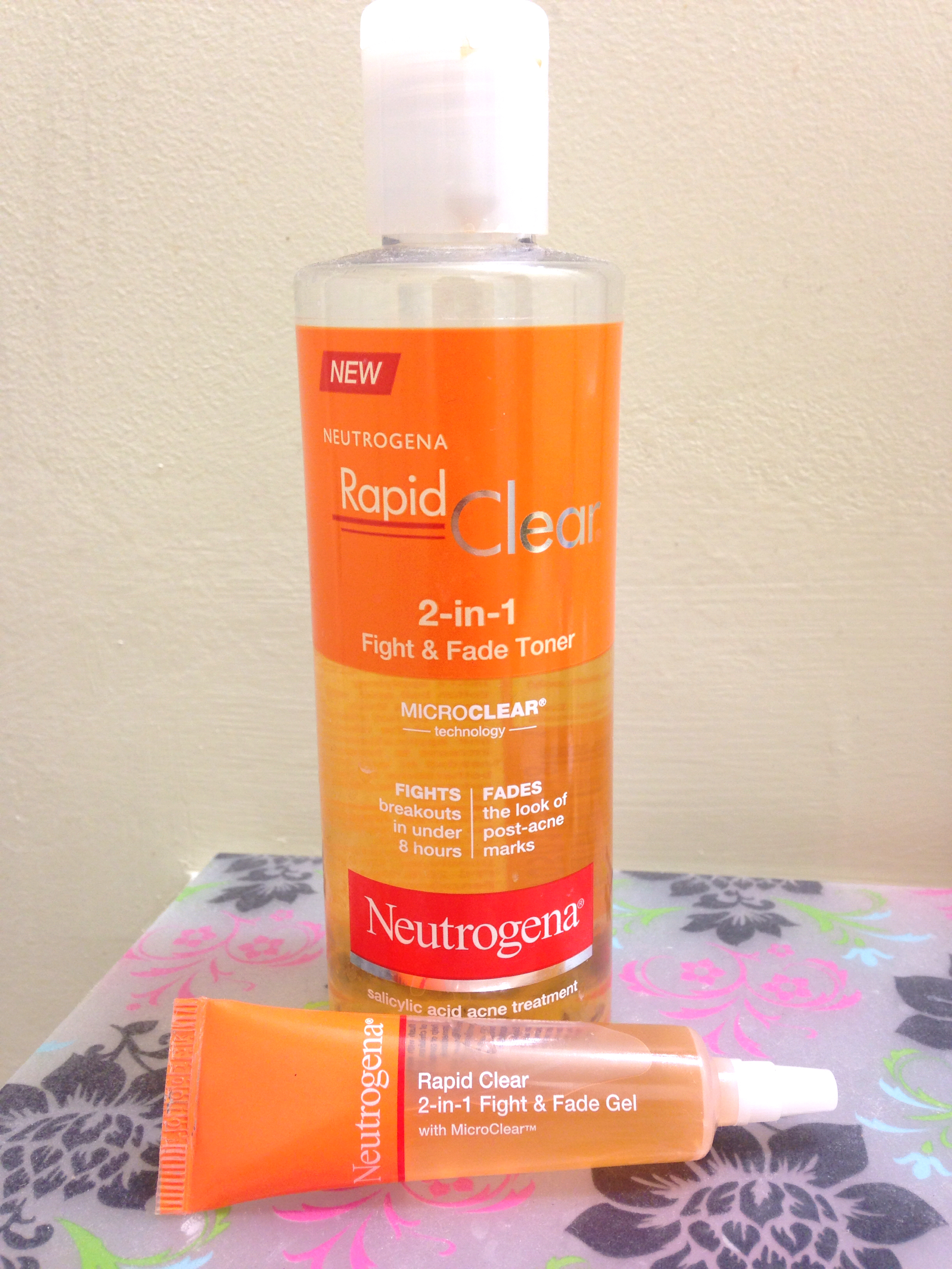 Review: Neutrogena Fight & Fade 2-in-1 Toner and 2-in-1 Fight & Fade Gel