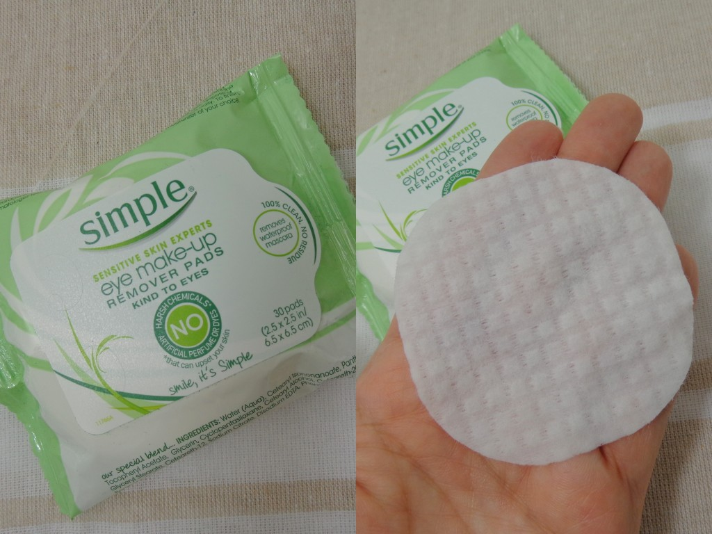 Simple Skincare Eye Makeup Remover Pads