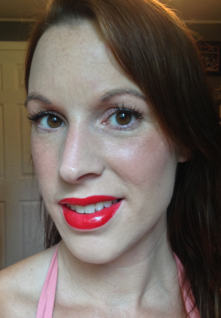Lip Swatch Rimmel Colour Rush Redder Better