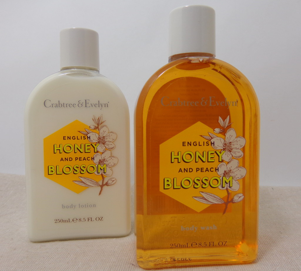 Crabtree & Evelyn English Honey and Peach Blossom Body Wash and Body Lotion