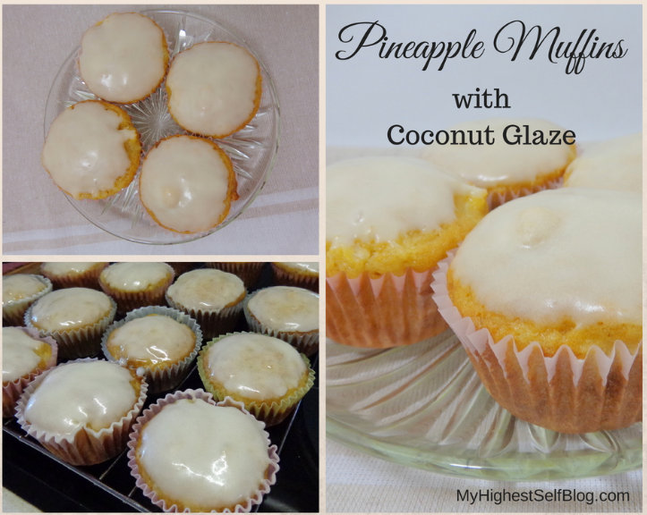 Pineapple Muffins Coconut Glaze