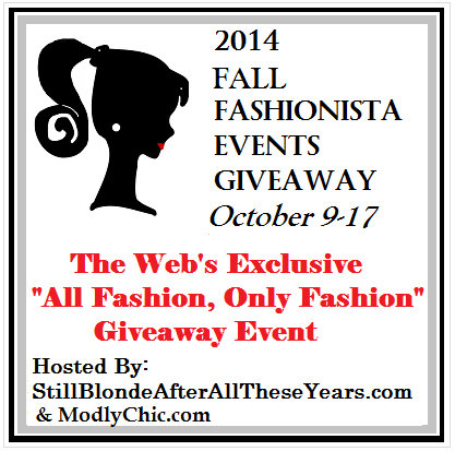 2014 Fall Fashionista Giveaway Event – Over $26,000 in Fashion Prizes!