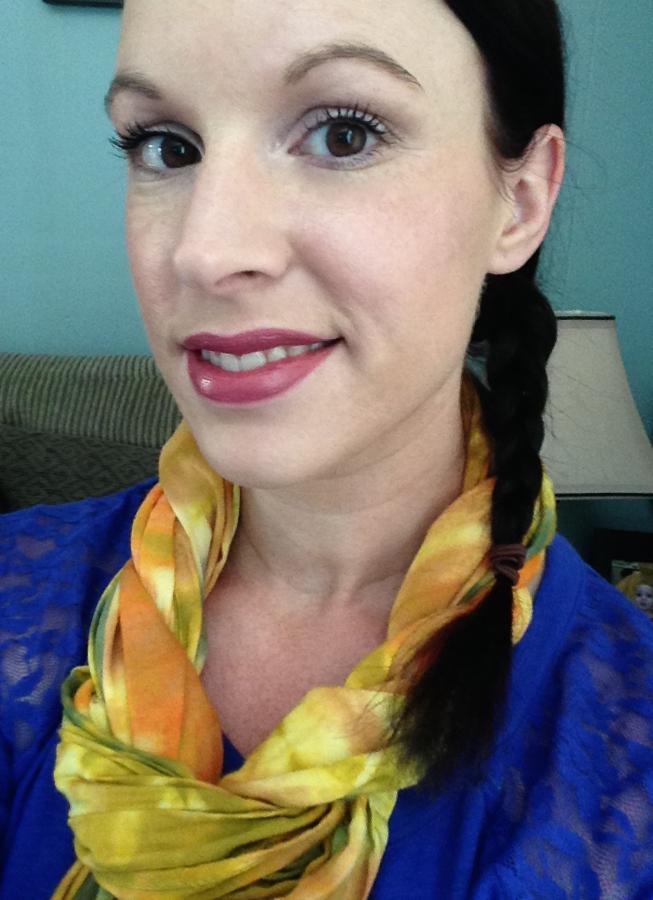 Wearing Vincent Longo Danae Lipstick