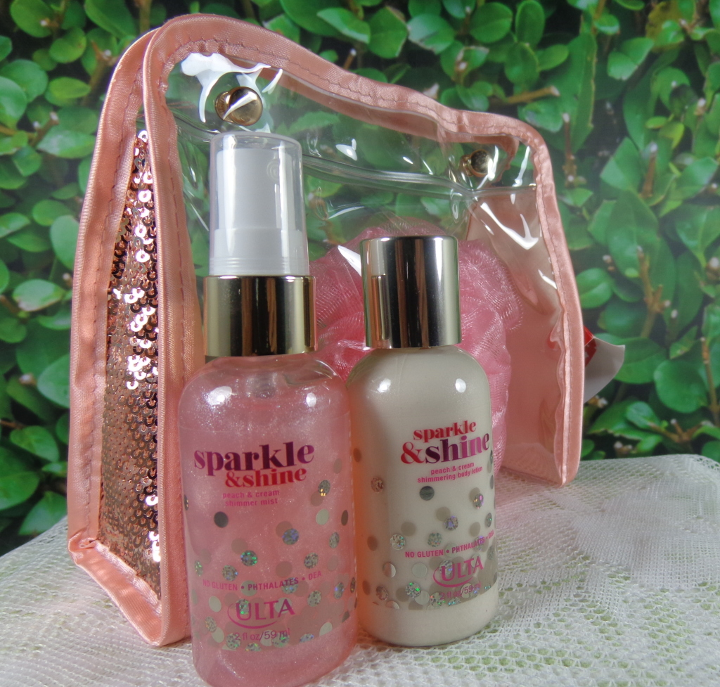 ULTA Sparkle & Shine Peach & Cream Shimmer Mist and Shimmering Body Lotion