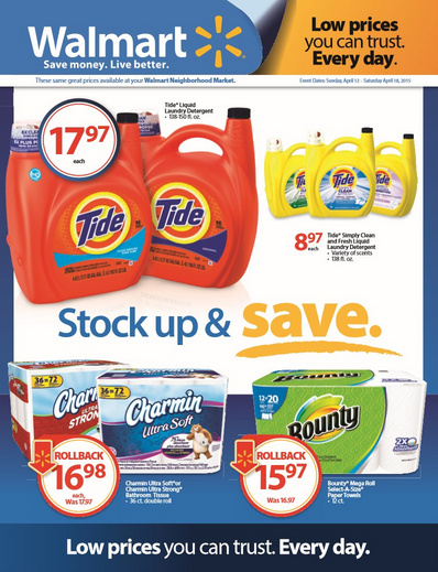 Stock Up and Save Event at Walmart PLUS $25 Walmart Gift Card Giveaway