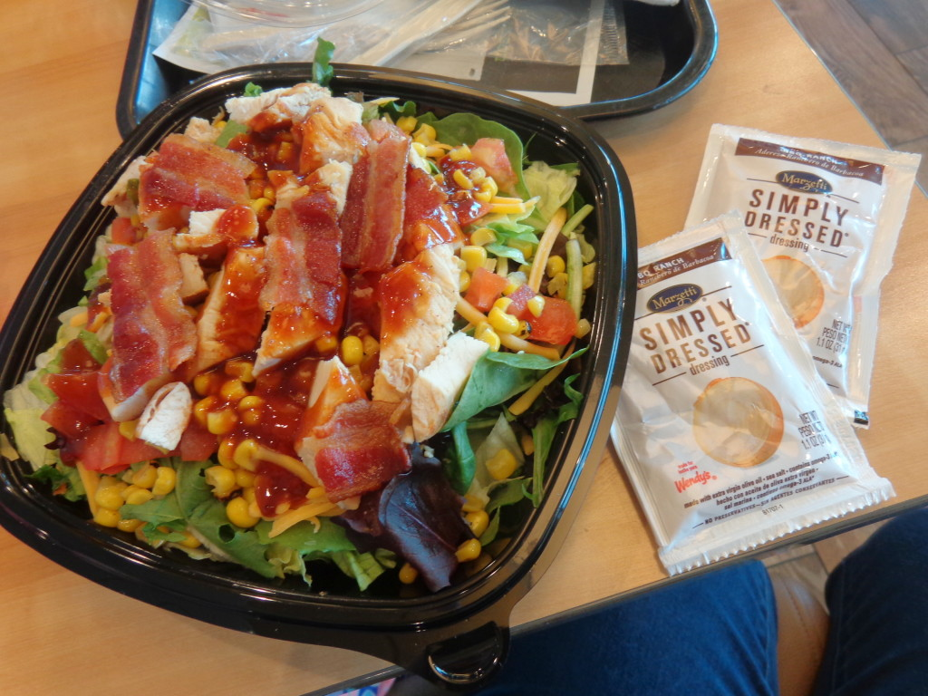 Wendy's BBQ Ranch Chicken Salad 2015
