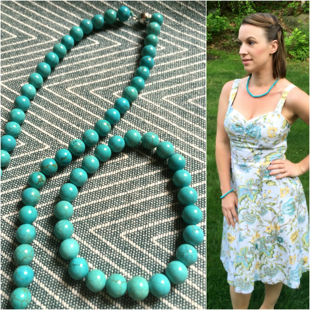 Turquoise Jewelry Summer Dress