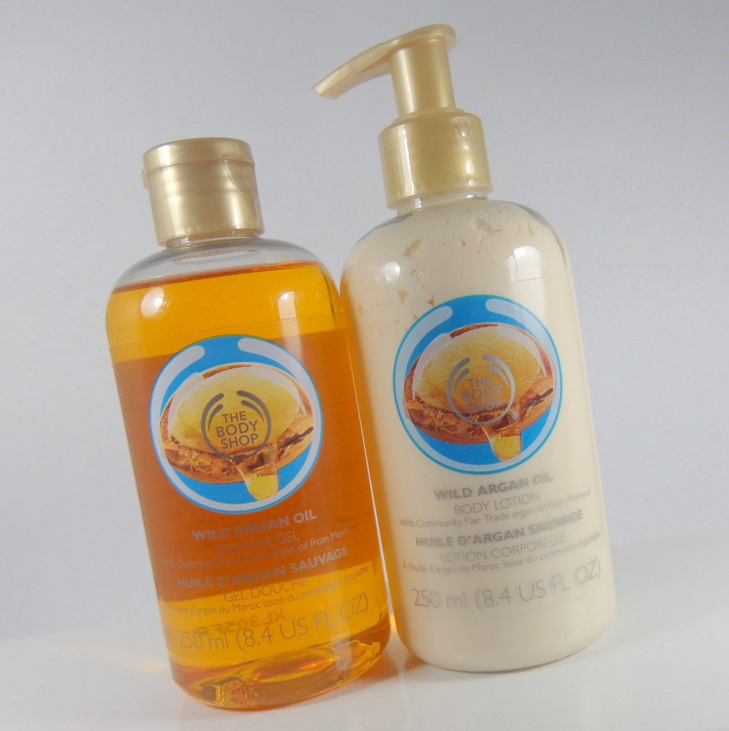 Body Shop Wild Argan Oil Shower Gel and Lotion