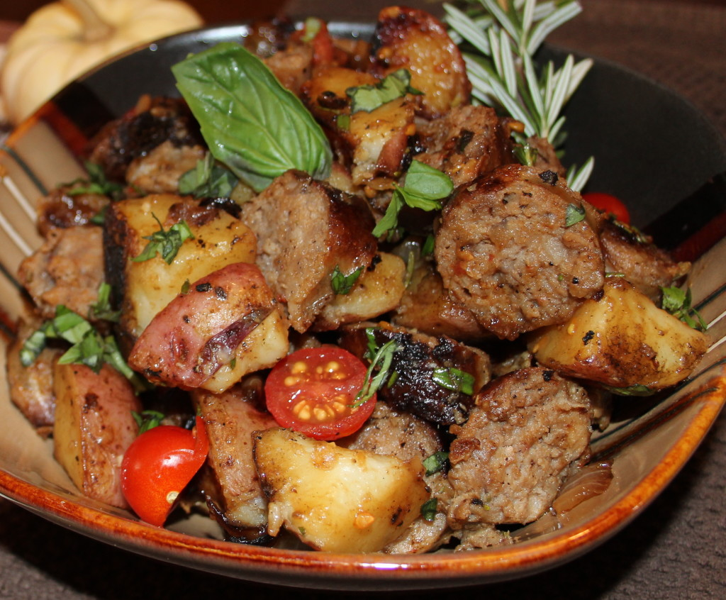 Quick, Easy Meal for Fall:  Rustic Italian Sausage and Potatoes