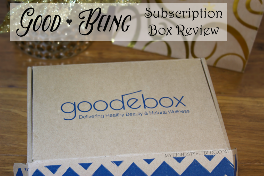 Good Being Natural Subscription Box Review