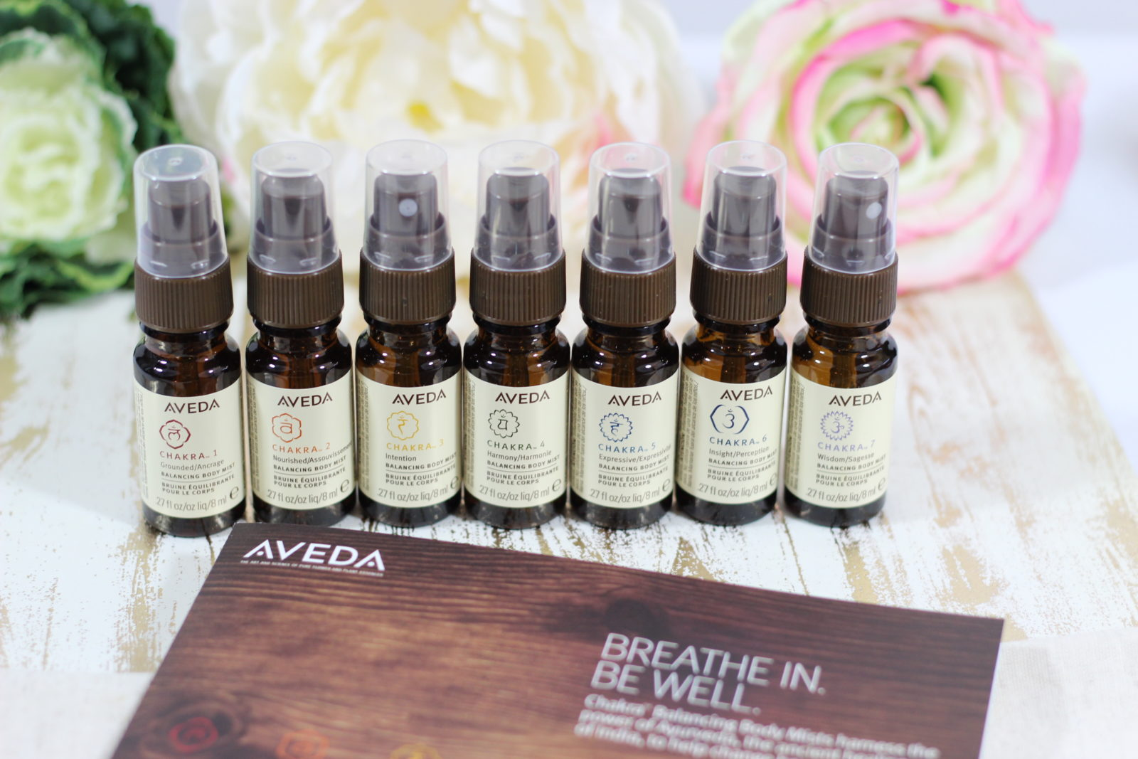 Feeling Balanced is a Gift – Aveda Chakra Balancing Body Mists