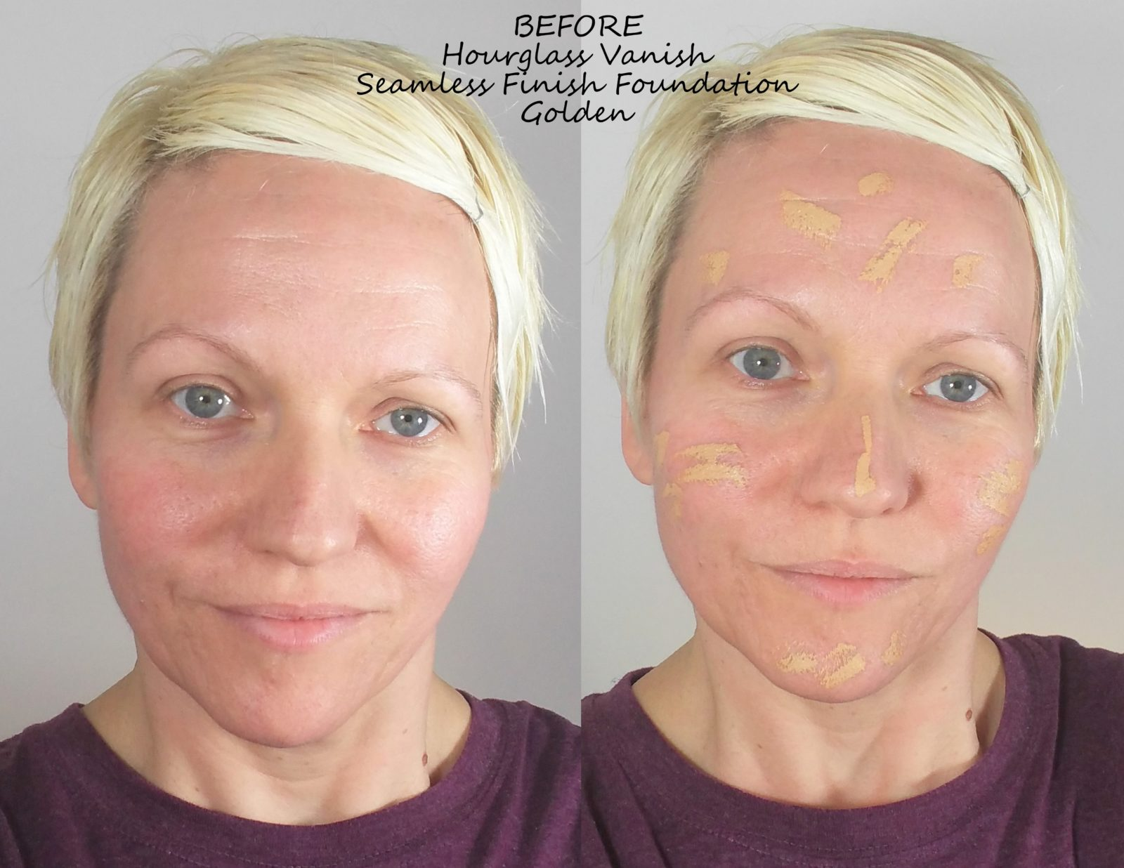 Hourglass Vanish Foundation Before and After Photos