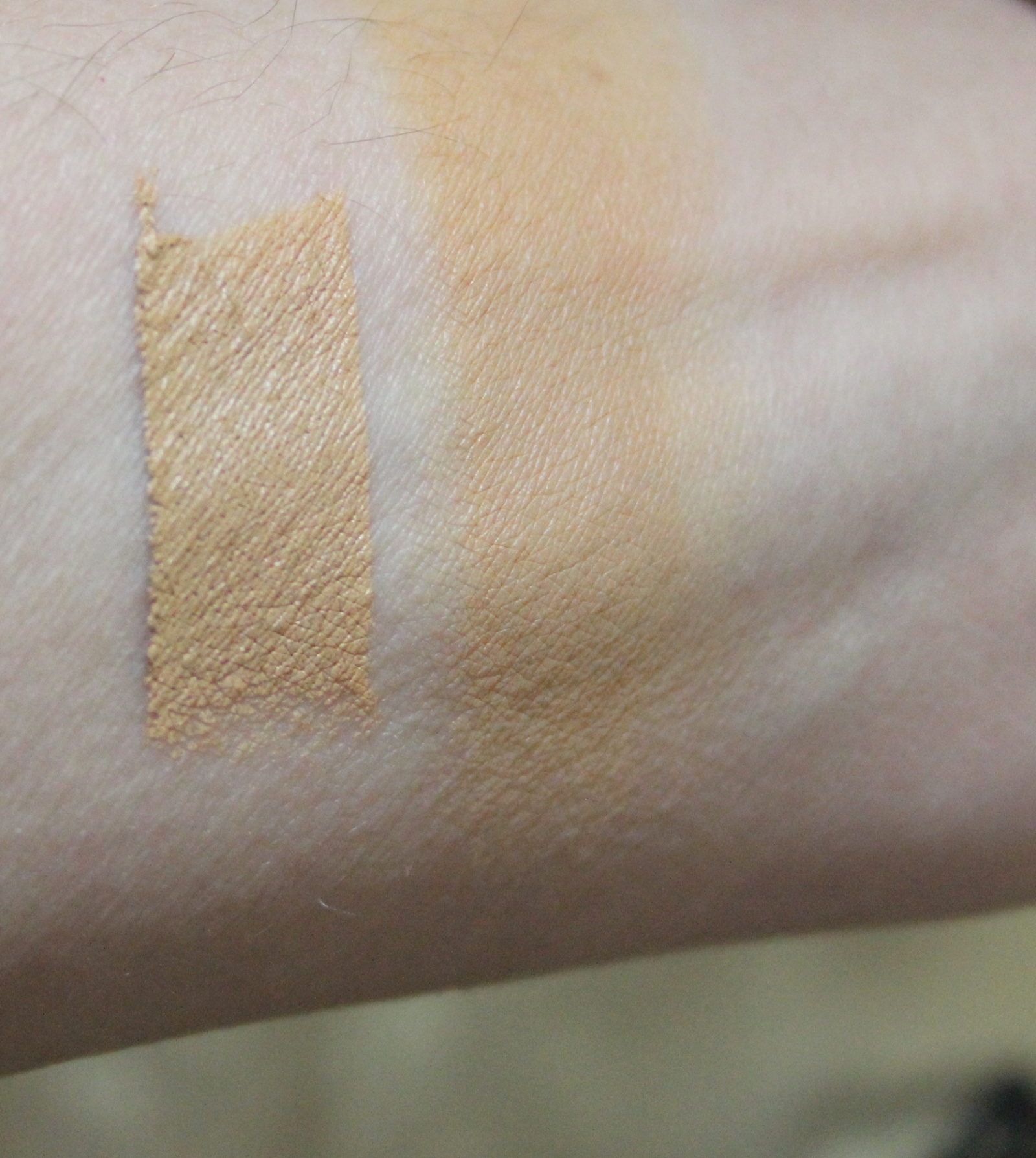 Hourglass Vanish Stick Golden Swatch on Skin