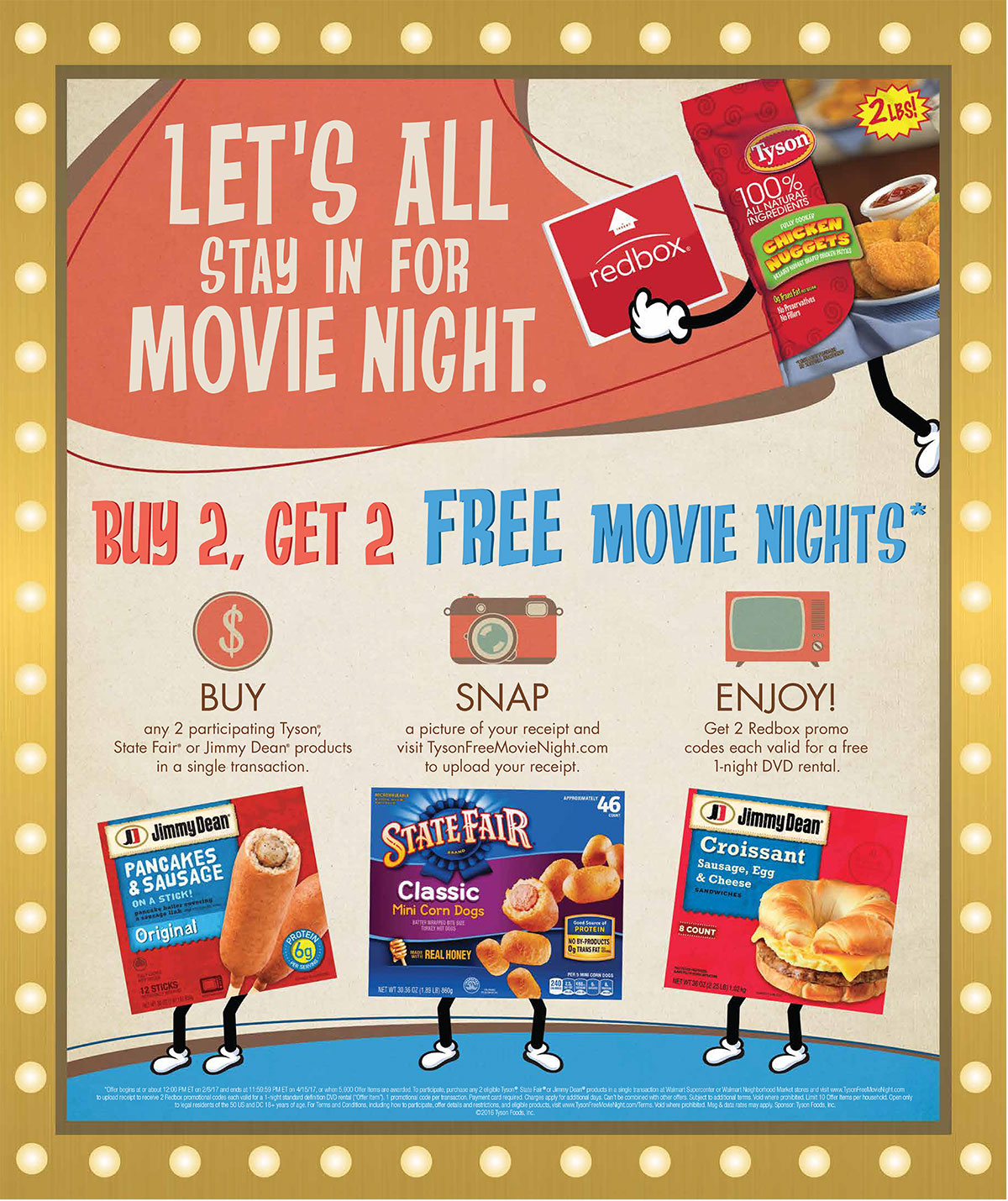 Free Movie Night with Tyson and Redbox at Walmart