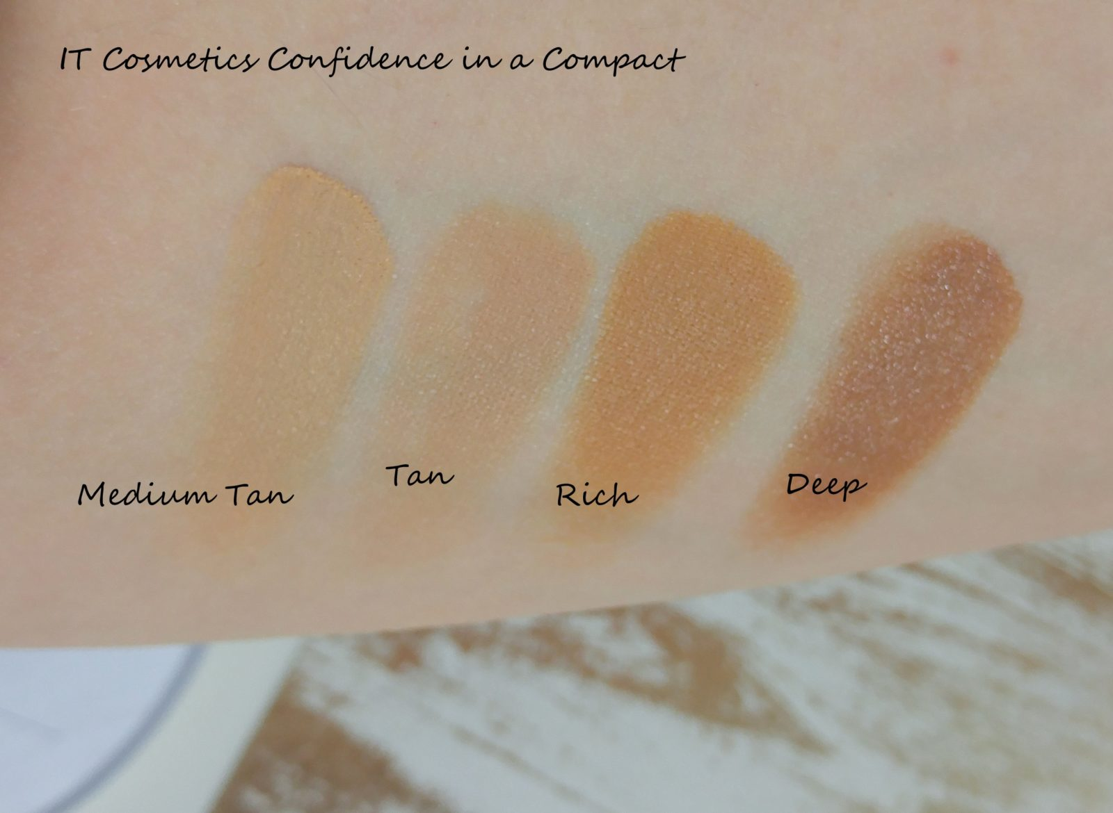 Confidence in a Compact Swatches Medium Tan Rich Deep