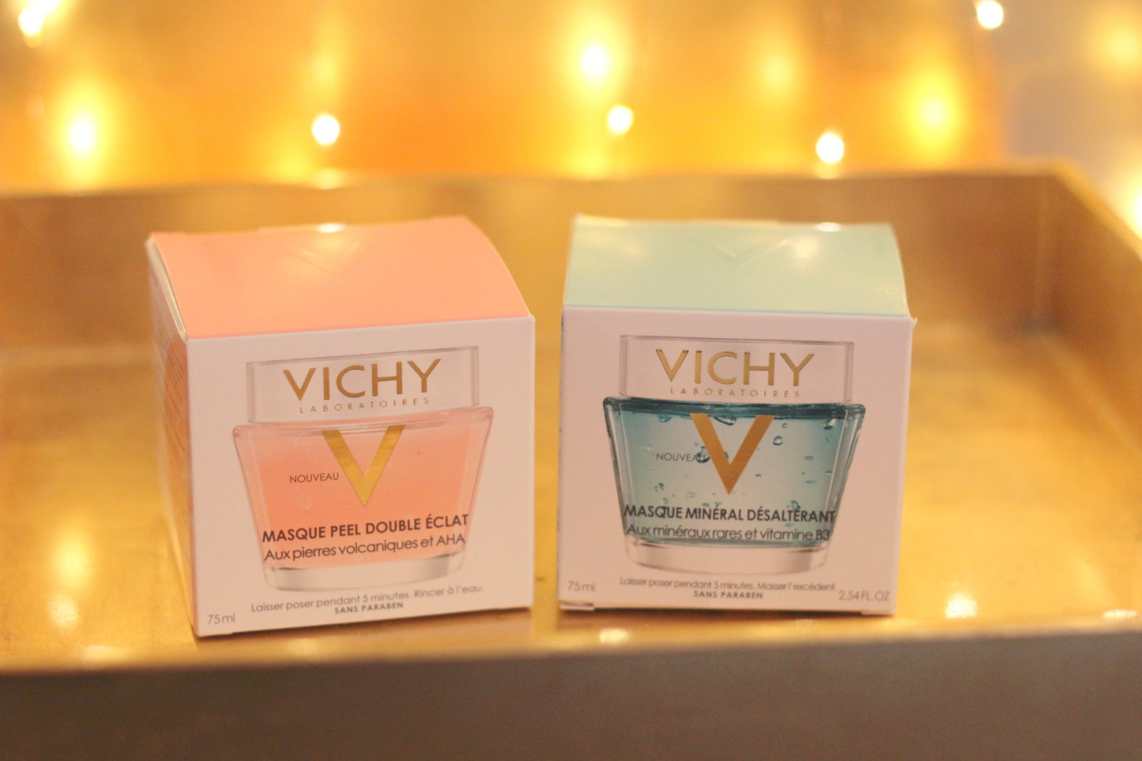 Vichy Double Glow Peel and Vichy Quenching Mineral Masks